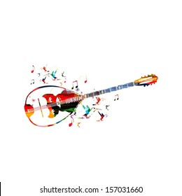 Abstract music background with bouzouki.