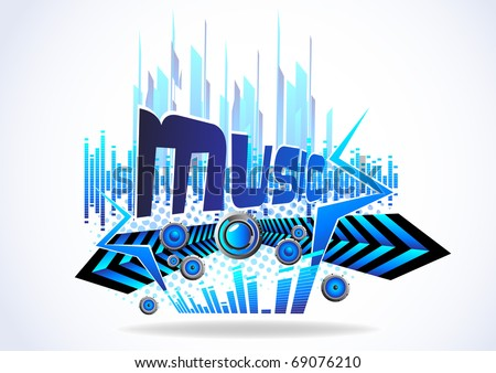 Abstract Music Background Clipart Stock Vector Royalty Free