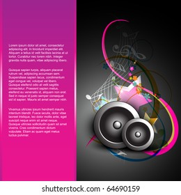 abstract music background design
