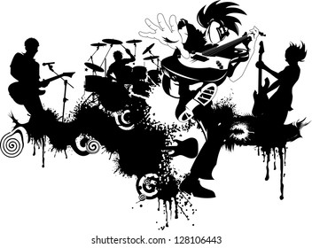 Abstract music background for music event design vector illustration