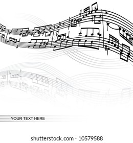 abstract music background with space for your text