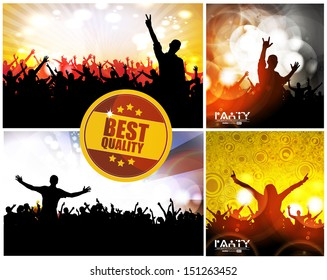 Abstract music background. Vector