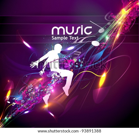 Abstract Music Dance Background Music Event Stock Vektorgrafik