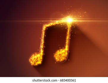 Abstract music note background. Vector illustration