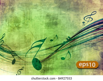 abstract music notes design for music background use.