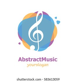 Abstract Music Simple Unique Logo For Business Illustration Vector Isolated