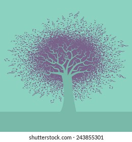 An abstract Music Tree Background for Print or Web