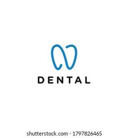 abstract n logo. dental icon