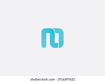 Abstract n o letter initial modern minimalist logo design