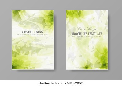 Abstract natural organic design. Template cover background for presentation brochures, banners, posters and flyers