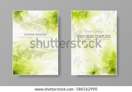 abstract natural organic design template cover stock vector royalty