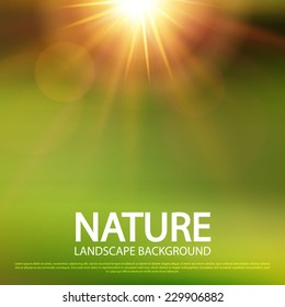 Abstract nature blur background. Vector illustration