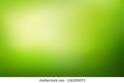 Abstract nature blurred background.   Green gradient backdrop. Vector illustration. Ecology concept for your graphic design, banner or poster