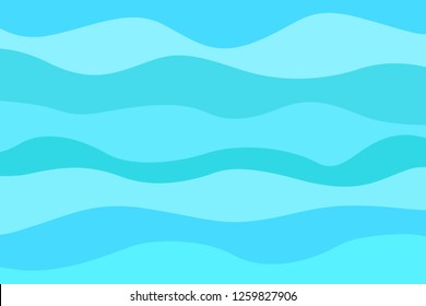 Abstract nautical wallpaper of the surface. Wavy sea background. Pattern with waves. Multicolored texture. Decorative backdrop