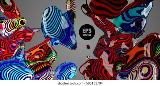 Abstract neon background. Applicable for Covers, Placards, Posters, Flyers and Banner Designs. Vector illustration