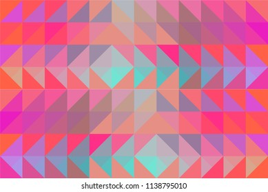 Abstract neon pattern background, vibrant, colorful and super bright. Colors shades: pink, orange, raspberry, fuchsia, purple,  aquamarine, grey, light blue.
