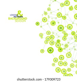 Abstract network concept vector background. Loading idea for business. Fresh green colors.