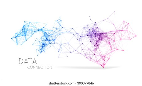 Abstract network connection background
