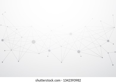 Abstract network connection technology background. Vector illustration