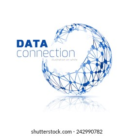Abstract network connection vector