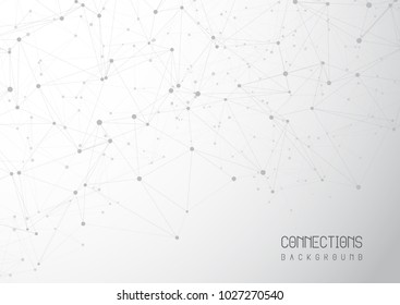 Abstract network connections background with connecting lines and dots