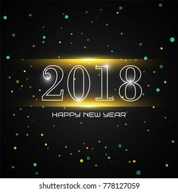 Abstract new year 2018 background