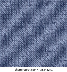 Abstract noisy checked chambray fabric textured background. Seamless pattern.