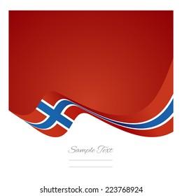 Abstract Norway flag ribbon vector