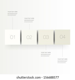 Abstract numbered infographic cubes design with your text and thin lines Eps 10 vector illustration