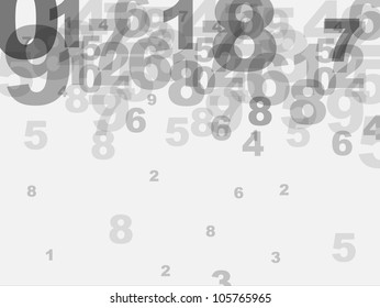Abstract numbers background. Vector illustration