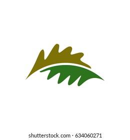 Abstract oak leaf logo concept