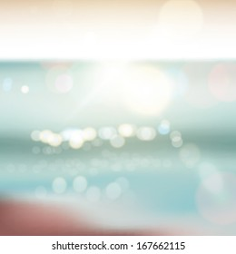 Abstract ocean seascape with blurred background
