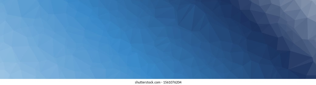 Abstract Ocean Voronoi trianglify Generative Art background illustration