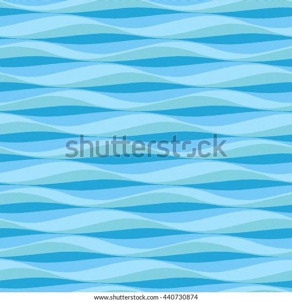 Abstract Ocean Waves Background Vector Seamless Stock Vector