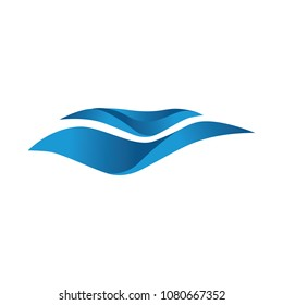 abstract ocean waves, logo