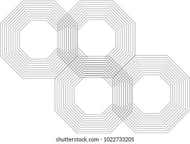 Abstract Octagon Pattern