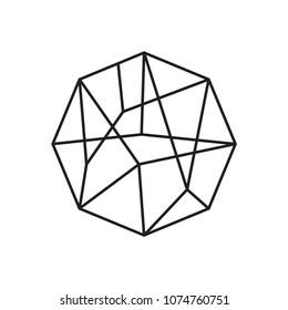 abstract octagonal geometric logo icon