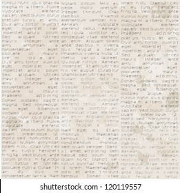 Abstract old newspaper, seamless vintage background.