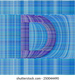 Abstract Optical Illusion Vector Font - Letter D