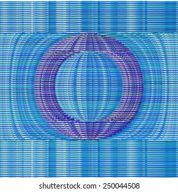 Abstract Optical Illusion Vector Font - Letter O