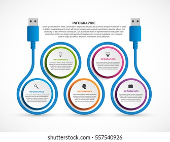 Abstract options infographics template. Infographics for business presentations or information banner