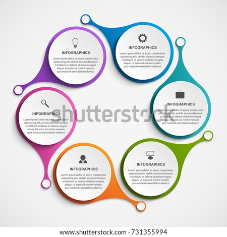 abstract options infographics template infographics business stock