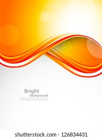 Abstract orange background. Bright illustration