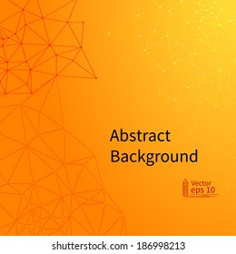 Abstract Orange background. EPS10 vector illustration.