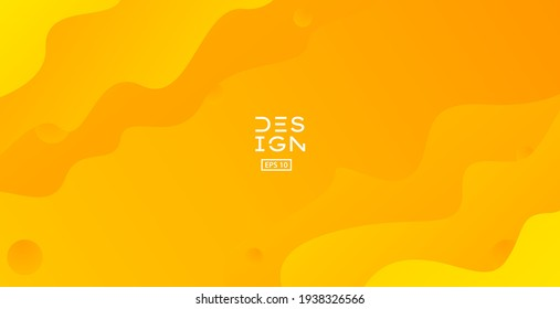Abstract orange background. Trendy liquid shape with dynamic composition. Modern liquid gradient Eps 10 vector