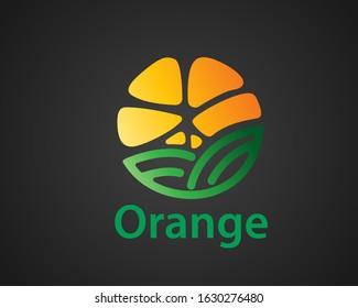 abstract orange Fruit Farm Garden Barn Logo design inspiration