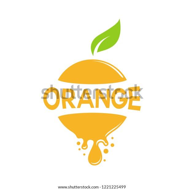 Abstract Orange Fruits Logo Circle Shape Stock Image