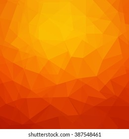 Abstract orange geometrical background - Vector
