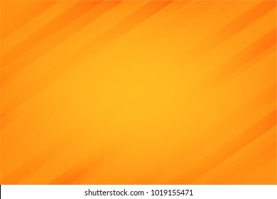 Abstract orange gradient background design with stripes. Vector Minimal Banner. Colored Sleek Texture.