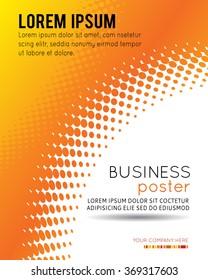 Abstract orange halftone background. Vector illustration